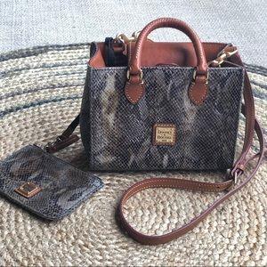 Dooney&Bourke snake print leather crossbody bag